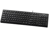 KR-6401-BK Chocolate Key Style New Slim Keyboard
