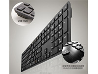 I-Rocks KR-6402-BK - Aluminum X-Slim Keyboard for PC - Black