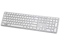 I-Rocks KR-6402-WH - Aluminum X-Slim Keyboard for PC - White