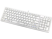KR-6421-WH Ultra X-Slim Keyboard with Terrace Keycap